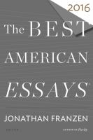 Cover image for The best American essays 2016