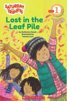 Cover image for The Saturday triplets : Lost in the leaf pile