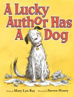 Cover image for A lucky author has a dog