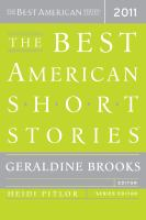 Cover image for The best American short stories, 2011