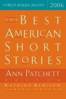 Cover image for The best American short stories, 2006