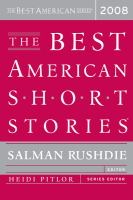 Cover image for The best American short stories, 2008
