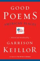 Cover image for Good poems, American places