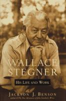 Cover image for Wallace Stegner : his life and work