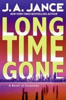Cover image for Long time gone. bk. 16 : J.P. Beaumont series