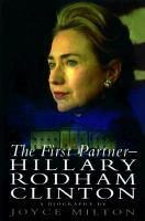 Cover image for The first partner : Hillary Rodham Clinton