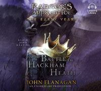 Cover image for The battle of hackham heath Ranger's Apprentice: The Early Years Series, Book 2.