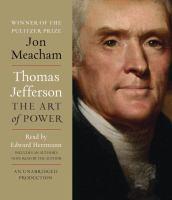 Imagen de portada para Thomas Jefferson the art of power