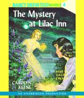 Cover image for The mystery at Lilac Inn. bk. 4 Nancy Drew mystery stories