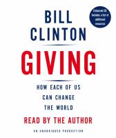 Cover image for Giving [how each of us can change the world]