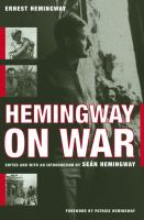 Cover image for Hemingway on war