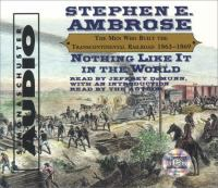 Cover image for Nothing like it in the world [the men who built the transcontinental railroad, 1863-1869]