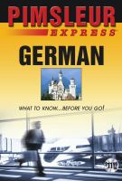 Cover image for German what to know-- before you go!