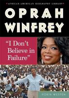 """Cover image for Oprah Winfrey : """"I don't believe in failure"""""""