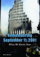 Cover image for Remembering September 11, 2001 : what we know now