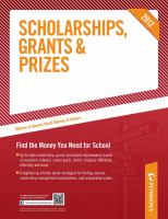 Cover image for Peterson's scholarships, grants & prizes 2012