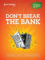 Cover image for Don't break the bank a student's guide to managing money, 2012.
