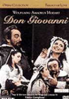 Cover image for Don Giovanni jocose play in two acts on Lorenzo da Ponte's libretto