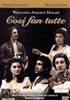 Cover image for Cosi fan tutte jocose play in two acts on Lorenzo da Ponte's libretto