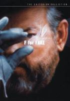 Cover image for Orson Welles's F for fake [videorecording DVD]