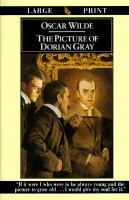 Cover image for The picture of Dorian Gray [large print]