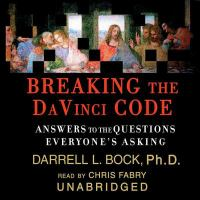 Imagen de portada para Breaking the Da Vinci code [answers to the questions everyone's asking]