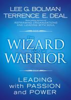 Cover image for The wizard and the warrior : leading with passion and power