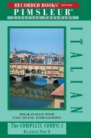 Imagen de portada para Italian I the complete course, beginners/part A ; part B.