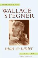 Cover image for Wallace Stegner : man and writer