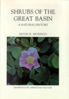 Cover image for Shrubs of the Great Basin : a natural history