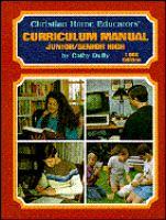 Cover image for Christian home educators' curriculum manual. Junior/senior high