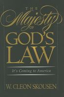 Cover image for The majesty of God's law