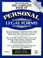 Cover image for The complete book of personal legal forms :  Legal self-help series