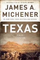 Cover image for Texas A Novel.