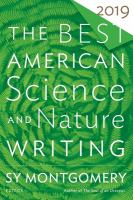 Cover image for The best American science and nature writing 2019
