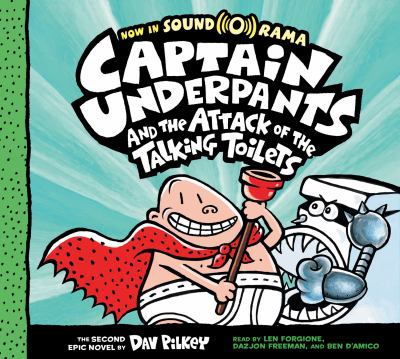 Cover image for Captain Underpants and the attack of the talking toilets. bk. 2 [sound recording CD] : Captain Underpants series