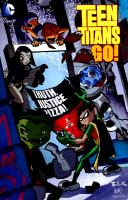 Cover image for Teen Titans go! Vol. 1 [graphic novel] : Truth, Justice, Pizza!