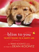 Cover image for Bliss to you