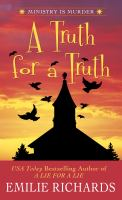Cover image for A truth for a truth. bk. 5 Ministry is murder series
