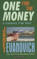 Cover image for One for the money. bk. 1 Stephanie Plum series