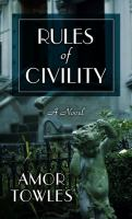 Cover image for Rules of civility