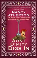 Cover image for Aunt Dimity digs in. bk. 4 [large print] : Aunt Dimity series
