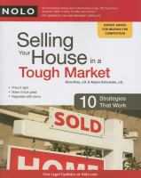 Cover image for Selling your house in a tough market : 10 strategies that work