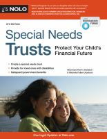 Cover image for Special needs trusts : protect your child's financial future