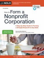 Cover image for How to form a nonprofit corporation