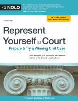 Cover image for Represent yourself in court : prepare & try a winning civil case