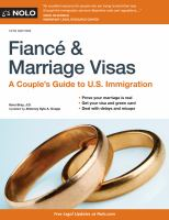 Cover image for Fiancé & marriage visas : a couple's guide to U.S. immigration