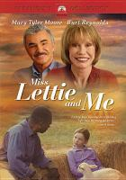 Cover image for Miss Lettie and me