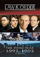 Cover image for Law & order. Year 3, 1992-1993 season