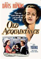 Cover image for Old acquaintance [videorecording DVD]